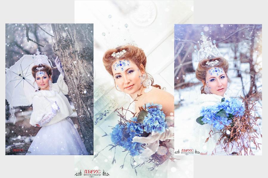 И еще один образ зимы в одноименном фотопроекте  фотостудии «АБРИС»- «Зима», фотограф-визажист Швалёва Ольга.