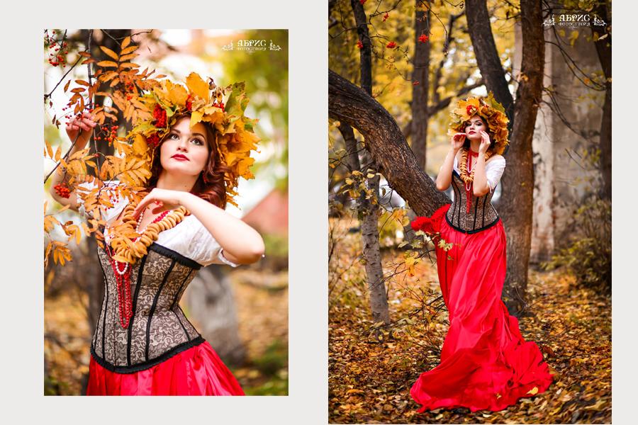 Очень красивый  рябиновый фотопроект фотостудии Абрис г Томск.