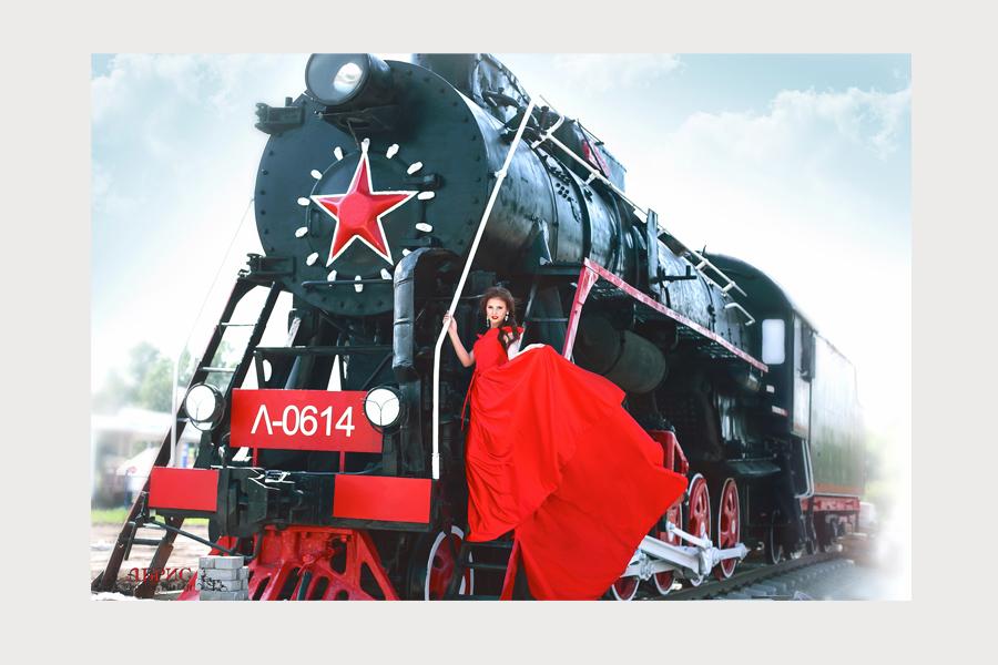 Фотопроект «Ретропоезд» фотостудия Абрис, г. Томск