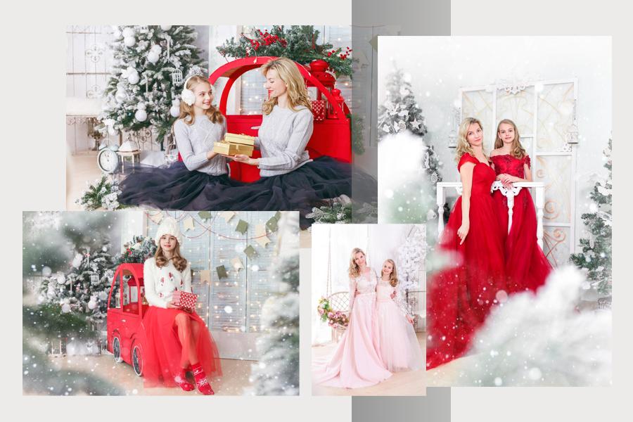 Семейная новогодняя фотосессия в фотостудии Абрис г. Томск.